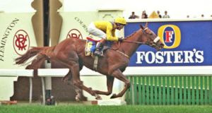 Vintage Crop wins the 1993 Melbourne cup.