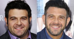 US television presenter Adam Richman before and after his weight-loss dieting, which led to him losing more than 27kg before he posted a photo of himself online with the hashtag #thinspiration.