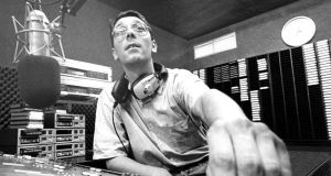 Capital Radio DJ Colm Hayes before the station went on air in July 1989. Photograph: Tom Lawlor
