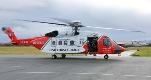 The man was airlifted  from the sea close to Inishbofin, Co Galway to Mayo General Hospital in Castlebar. Photograph: Colin Keegan, Collins Dublin