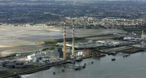 Pigeon House: Dublin City Council agreed last night to add the redundant 207m (680ft) chimneys to the Record of Protected Structures. Photograph: Frank Miller/The Irish Times