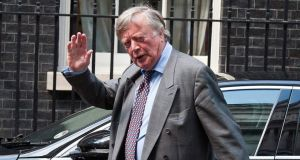 Ken Clarke waved to photographers as he entered 10 Downing Street before news of his widely expected exit from the British government was confirmed. Photograph:  EPA/Will Oliver