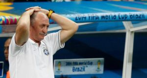 Brazil coach Luiz Felipe Scolari has announced his resignation. Photograph:    Ueslei Marcelino/Reuters