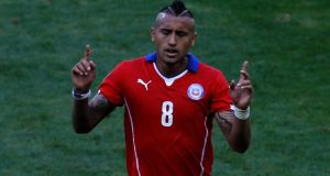 Chile's Arturo Vidal admits that it won't be the end of the world if a move from Juventus to Manchester United falls through. Photograph: Leonhard Foeger/Reuters