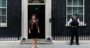 Britain's new secretary of state for education Nicky Morgan leaves 10 Downing Street after her appointment today. Photograph: Suzanne Plunkett/Reuters