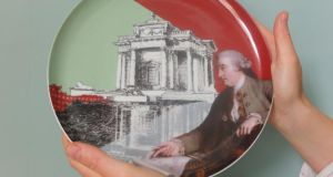 Plate by Luca Scacchetti, from 'Meditation on plates, inspired by Lord Charlemont's Casino'