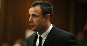 Oscar Pistorius, who is accused of  the shooting death of his girlfriend Reeva Steenkamp last year. Photograph: AP Photo/Alon Skuy, Pool