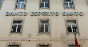 Espirito Santo plunged 11 per cent to 39.6 cents, its lowest price since June 2012. Photograph: Mario Proenca/Bloomberg