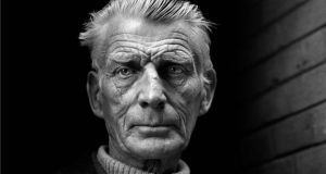 Samuel Beckett:  The  collection comprised 347 letters and postcards, written in French,  sent by Beckett to his friends, the French artists Henri and Josette Hayden. Photograph:  Jane Bown/Guardian