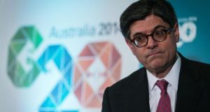 "Jacob ""Jack"" Lew, US treasury secretary.   Mr Lew has urged members of Congress  to pass legislation immediately to stop US companies from shifting their legal addresses overseas"