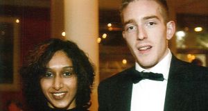 India-born Dhara Kivlehan (left, with husband Michael Kivlehan), was 29 when she died at the Royal Victoria Hospital in Belfast after being transferred by helicopter from Sligo. She had developed HELLP, a severe form of pre-eclampsia.