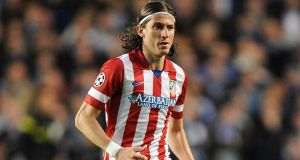 Chelsea have signed Filipe Luis from Atletico Madrid subject to the left-back agreeing personal terms nad passing a mdical.  Photograph:  Andrew Matthews/PA Wire.