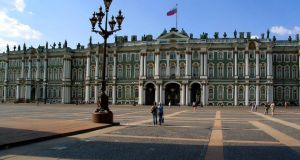 The Winter Palace in St Petersburg. The city was the scene of violent clashes between workers and police shortly before the outbreak of the first World War.