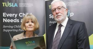 Chairwoman of the National Review Panel Dr Helen Buckley with Paul Harrison at the launch of the report. Photograph: Laura Hutton/Photocall Ireland