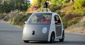 A prototype self-driving car by Google in a publicity photo from June 2014. The FBI believes self-driving cars wil be 'game changing' for law enforcement.