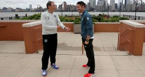 Republic of Ireland manager Martin O'Neill and captain Robbie Keane have a bit of work to do if they are to return their side to more familiar territory in the Fifa world rankings. Photograph: Donall Farmer / Inpho
