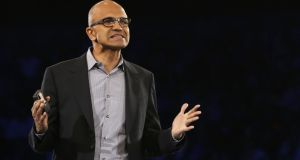Satya Nadella signaled in a memo last week that big organisational changes were coming soon. Photograph: Alex Wong/Getty Images