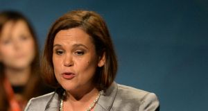"Mary Lou McDonald: accused the Tánaiste of ""a limp and lily-livered'' response to the issue ,"