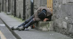 Of the 3,808 people found to be in emergency accommodation or sleeping rough in the 2011 census, 37 per cent of them were outside Dublin. Photograph: Alan Betson