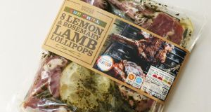 Marks and Spencer lemon and rosemary lamb lollipops