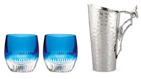 Mixology Argon Tumbler Pair​, €130, Waterford Crystal at Killkenny Olive water pitcher, €89, Culinary Concepts at Killkenny Shop