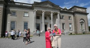 At Emo Court in Laois are, in foreground, Catherine Hardy and Iseult Kennedy. Photograph: Lorraine O'Sullivan/Inpho