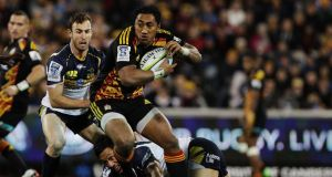 Bundee Aki of the Chiefs in action against the Brumbies in Canberra. Photograph: Stefan Postles/Getty Images