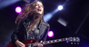 Haim perform on the Main Stage at Longitude Fesitval at Marley Park. Photograph: Allen Kiely.