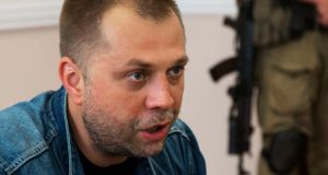 Alexander Borodai: rebel leader says  he believes his men have found the black boxes. Photograph: AP Photo/Dmitry Lovetsky