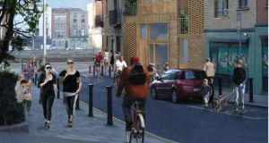 Artist's impression of possible use of vacant site at Fishamble Street, Dublin 2.