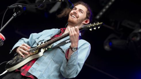 Hozier pleased to be playing at home. Photograph: Kieran Frost