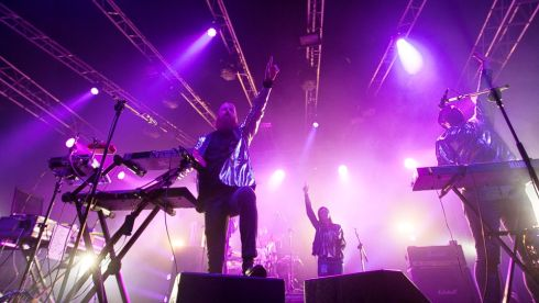 Le Galaxie had a colourful set.  Photograph: Kieran Frost
