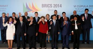 Brazil's president Dilma Rousseff hosts leaders from the BRICS countries and the Union of South American Nations. photograph: ueslei marcelino/reuters