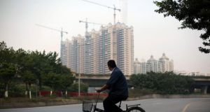 Residential construction  in  Guangzhou, Guangdong Province: new home prices in China's four major cities are on the rise. Photograph: Brent Lewin/Bloomberg