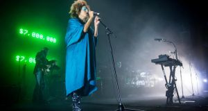 Martina Topley-Bird performs with Massive Attacks. Photograph:  EPA/Jean-Christophe Bott