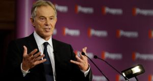 "Former British prime minister Tony Blair said ""no political philosophy today will achieve support unless it focuses on individual empowerment, not collective control"". Photograph: PA"