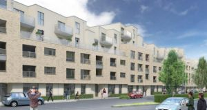Artist's impression of how Priory Hall will look when it is redeveloped.