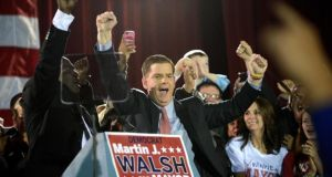 Boston mayor Marty Walsh plans to visit Ireland this autumn. Photograph: New york Times