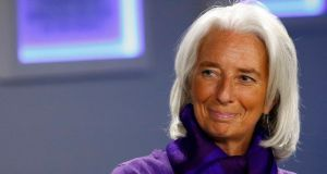 IMF managing director Christine Lagarde. The organisation is about to downgrade its economic forecasts for global growth this year