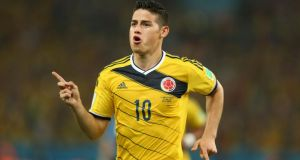 Real Madrid have agreed  to sign Colombia forward James Rodriguez from Monaco on a six-year deal, the Spanish club have announced.  Photograph:  Mike Egerton/PA Wire.