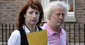 Mick Wallace and Clare Daly were detained after getting into the airside area of Shannon Airport where two aircraft were parked away from the main terminal. Photograph: Brenda Fitzsimons / The Irish Times