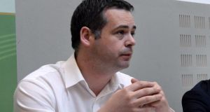Pearse Doherty today accused the media of failing to hold those in power to account and told delegates at the MacGill  summer School that   Ireland was unique in not having any left-wing media.   Photograph: Dara Mac Dónaill/The Irish Times
