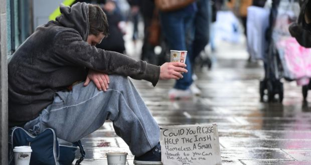 A homeless Irish man b...