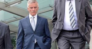 Former senator and minister of state Ivor Callely leaving the Dublin Circuit Court. Photograph: Eric Luke