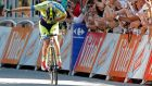 Australia's Michael Rogers bows for cheering spectators as he crosses the finish line to win the 16th stage of the Tour de France into Bagneres-de-Luchon. Photograph: Peter Dejong/AP Photo