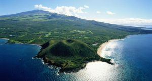 Aerial view of Maui Coast, Hawaii. Photograph: Getty Images