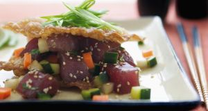 Ahi Poke, a Hawaiian speciality. Photograph: Tropical Pix Singapore