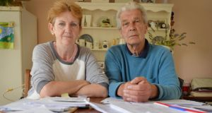 Violet and Martin Coyne in their home. Photograph: Alan Betson / The Irish Times