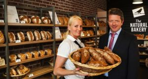 Luke Creighton, owner of The Natural Bakery shops, and Diana Hrivnakova, manager of the new Ranelagh branch