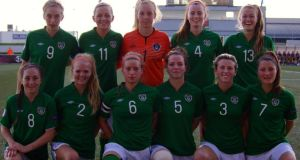 The Republic of Ireland women's Under-19 team that lined out in their  final Uefa European Championship group match against Sweden. They play the Netherlands in the semi-finals in Oslo this evening.
